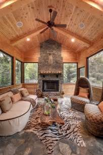 Rustic Cabin Bathroom Lights by House On The Hill Rustic Sunroom Minneapolis By