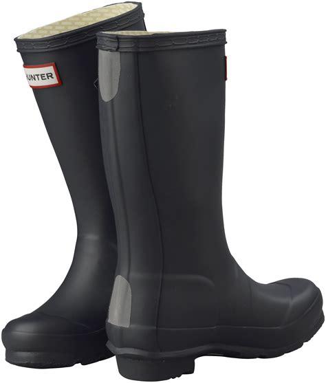 kids hunter wellies navy blue original rain wellington boots assorted sizes ebay