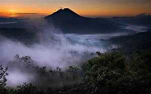 Nature, Landscape, Mist, Mountain, Valley, Volcano, Forest