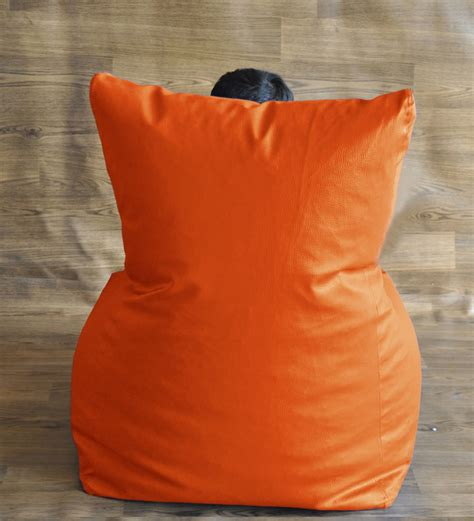 style homez orange xl chair shaped bean bag by style homez