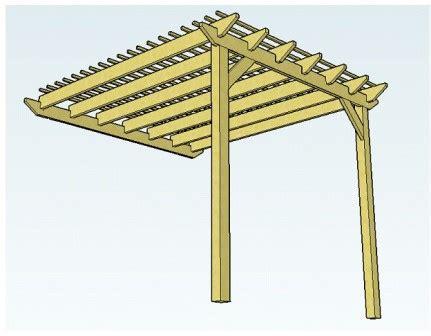 attached pergola plans