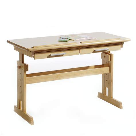 bureau enfant en pin bureau enfant en pin massif r 233 glable en hauteur