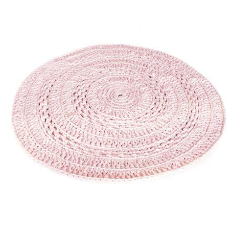 rond gehaakt kleed crochet roze puur basic interieur