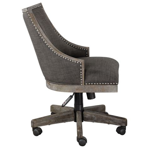 Uttermost Careers by Uttermost Accent Furniture Aidrian Charcoal Desk Chair