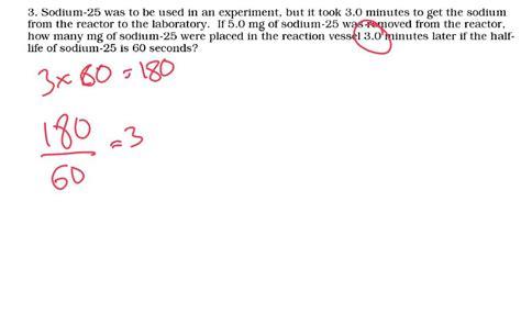 Half Life Problems 1  Igcse Physics Youtube