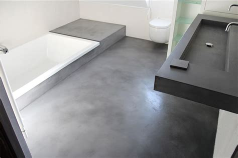beton cir 233 sol salle de bain