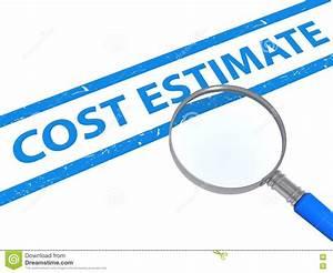 Cost estimate stock illustration. Illustration of sign ...