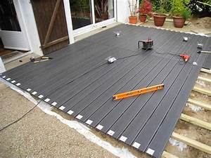 Terrasse Sur Plot : comment poser une terrasse composite sur lambourdes et ~ Melissatoandfro.com Idées de Décoration