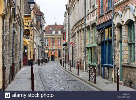 typical in the historic quarter vieux lille rue des stock photo royalty free