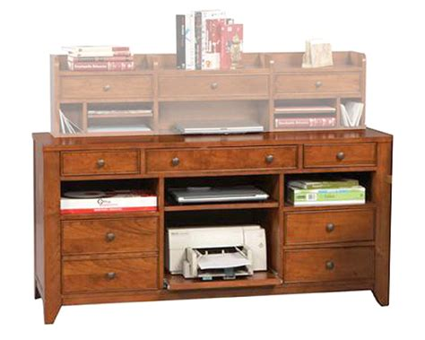 Credenza Storage - winners only credenza with pc storage and center drawer wo