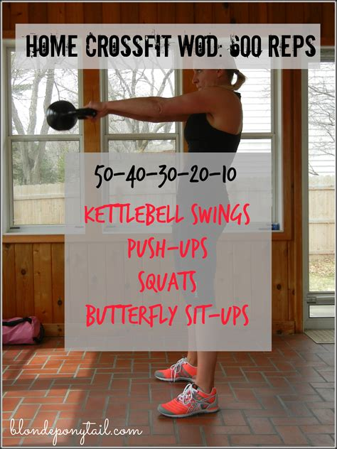 crossfit wod workouts wods kettlebell workout reps blonde ponytail 600 equipment gym fitness bloglovin blondeponytail bell cross routines rep exercises