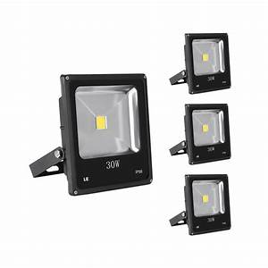 W led exterior flood light fixtures daylight white pack