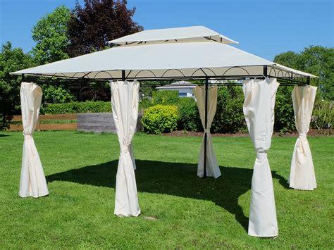 dach für pavillon eleganter garten pavillon 3x4 meter dach 100 wasserdicht uv30 12m 178 mit 6 vorh 228 ngen