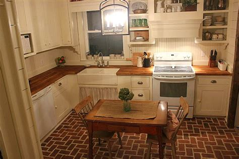 Brick Floor Kitchen Pictures by 10 White Kitchens My Readers Cook In Hooked On Houses