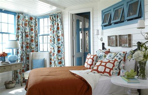 Turquoise And Orange Bedroom by Orange Bedspread Cottage Bedroom Tracery Interiors