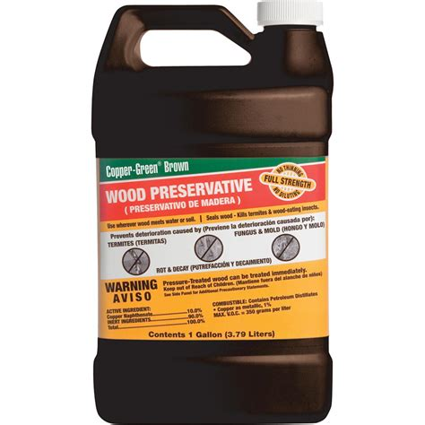 green products cb   gallon brown wood preservative
