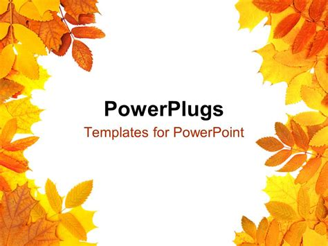 fall templates powerpoint template a number of leaves with white background 2409