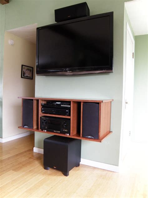 floating entertainment cabinet contemporary home