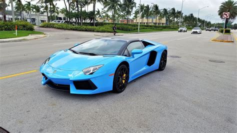 lamborghini aventador lp  blue roadster start  doovi