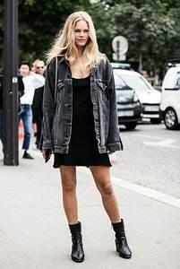 Jacket lefashion blogger tank top dress black dress denim jacket grey jacket mini dress ...