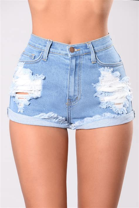Longest Summer Denim Shorts - Medium Blue
