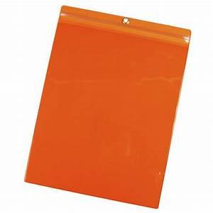 menda id 35049 orange job ticket holder 9 3 4 inch x 13 With vinyl document pouch