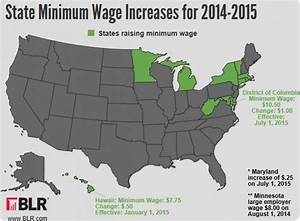 State Minimum Wage Increases Map for 2014-2015 | Visual.ly
