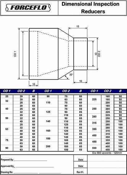 Hdpe Reducers Dimensions Eccentric Concentric