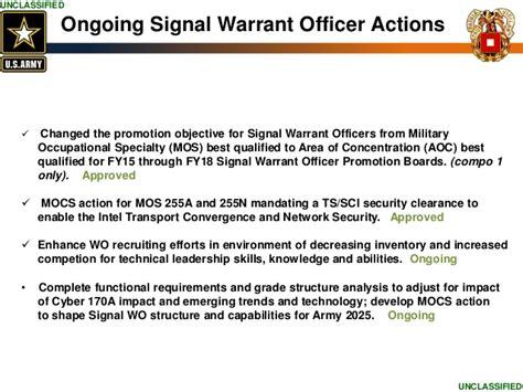 us army signal warrant officer mos