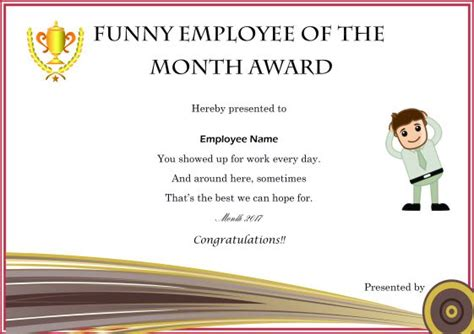 and employee of the month certificate