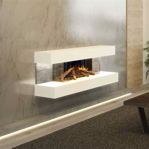evonic compton  wall mounted electric fire fusion heating