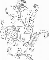 Printable Flower Coloring Pages Embroidery Crewel Patterns Floral Flowers Designs Pattern Bestcoloringpagesforkids Tattoo Sheets sketch template