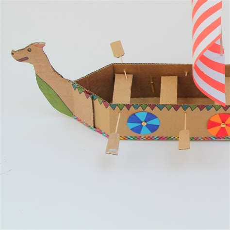 How To Make A Paper Boat In Minecraft by How To Make A Viking Longboat Hobbycraft