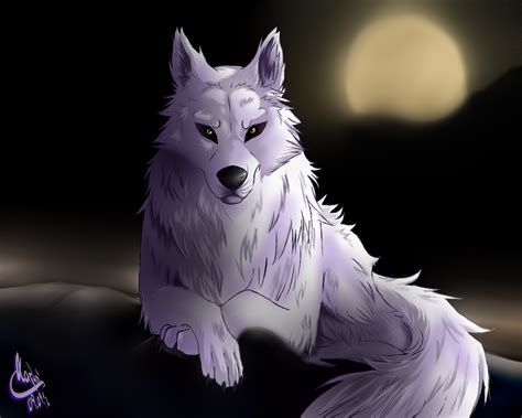 Anime Wolf Wallpaper - black and white anime wolves 11 widescreen wallpaper