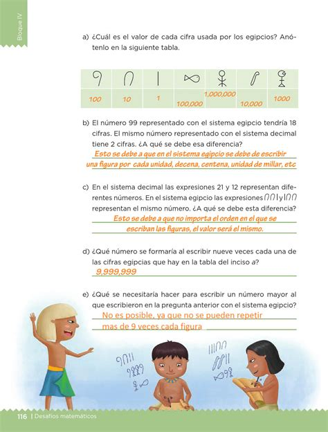 desafios matematicos quinto bloque iv cuatro 4 sistema egipcio pagina 116 areas y perimetros