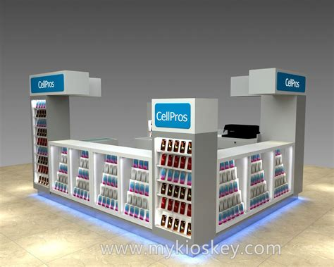 100 high quality mall mdf cell phone kiosk for