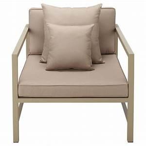 Fauteuil Jardin Aluminium : fauteuil de jardin en aluminium taupe ithaque maisons du monde ~ Teatrodelosmanantiales.com Idées de Décoration