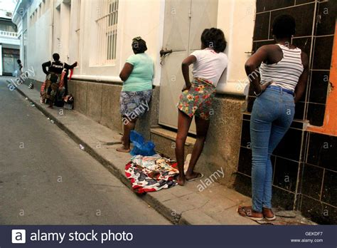 Prostitutes In The Red Light District Of Maputo