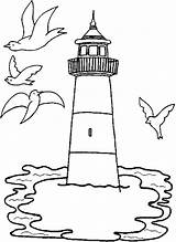 Lighthouse Coloring Pages Preschool Printable Getcoloringpages sketch template