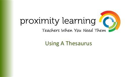 Using A Thesaurus.ppt