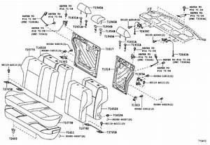Toyota Corolla Headrest  Rear   Seat  Gray  Body