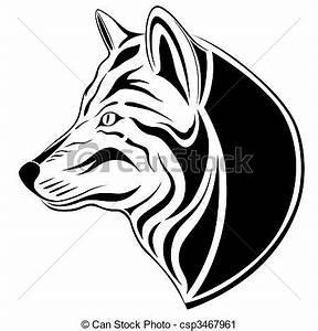 Tatouage Loup Graphique : clip art vecteur de loup tatouage loup formulaire ~ Mglfilm.com Idées de Décoration