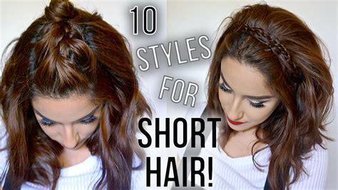 hairstyles  short hair quick easy   style  short hair claribella youtube