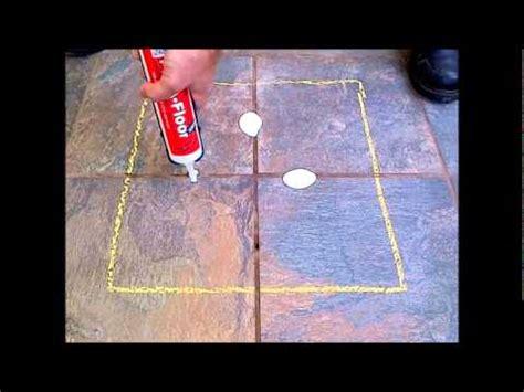fix loose hollow tile floors dont remove