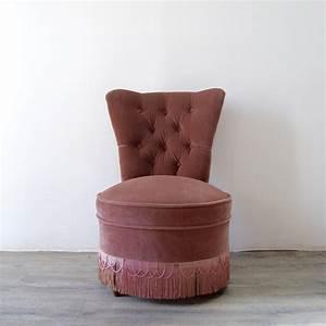Fauteuil Velours Rose : fauteuil crapaud velours rose poudr brocante avenue ~ Teatrodelosmanantiales.com Idées de Décoration