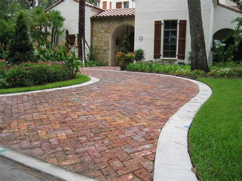 decor tips front yard with driveway pavers and paver