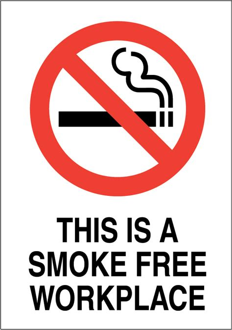 Free Workplace Sign Workplace Policy Sign Sku This Is A Smoke Free Workplace Sign Signs Uk