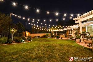 Backyard Wedding Reception - Amber Uplights & Market Lights