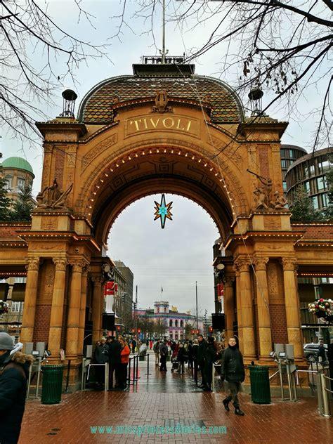White Christmas in Tivoli Gardens Theme Park, Copenhagen ...