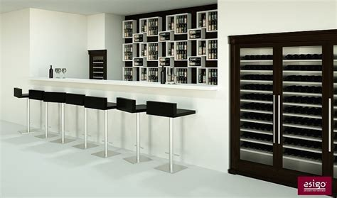 Refrigerated Wine Cabinet Furniture by Gallery Wine Bar Furniture Esigo
